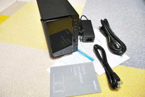 DS216+IIのパッケージ内容